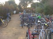 Bike corral at the Bowl.