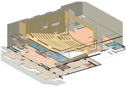 """New Vic"" 3-D seating diagram."
