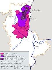 Map of Beaujolais
