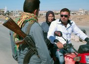Some of the roads in northern Syria are now controlled by armed Kurds who are seeking autonomy.
