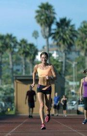 Joy Moats running at La Playa stadium (Nov. 5, 2012)