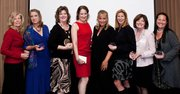 From left: Mindy Bingham, Rock Star; Carol Ashley, Real Estate/Construction; Karen Mora, Professional Services; Kathy Gruver, Health/Fitness/Beauty; Rachael Steidl, Publishing/Communications/Media;  Kelly Jensen, Wholesale/Retail; Kathy Odell for Darya Bronston, Science/Technology/Manufacturing, and Merryl Brown, Tourism/Hospitality.