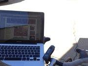 Biking and blogging!