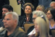 Doreen Farr in the audience at the Camp 4 meeting (Jan. 21, 2013)