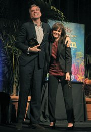 Daniel Day Lewis receives the 2013 SBIFF Montecito Award, presented by Sally Field (Jan 26, 2013)
