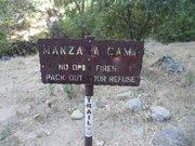 Manzana Camp sign