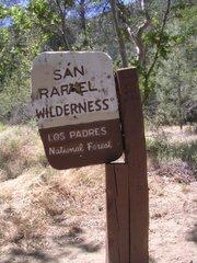 San Rafael Wilderness sign at Nira Camp