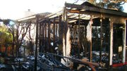 Aftermath of East De La Guerra Street fire