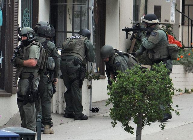 Swat Team Searching State Street Gun Shop