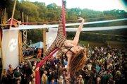 <b>FLYING HIGH:</b>  Silk dancer Krystal Rain wowed the crowd.