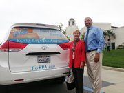 Hazel Johns, Assistant Airport Director with Ernesto Paredes, Easy Lift Executive Director.