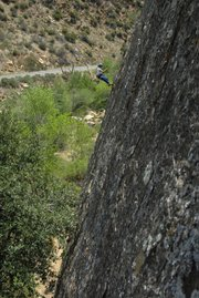 <b>CLIMBER READY? CLIMB ON!</b>  Typically celebrated for our beaches and ocean, the Santa Barbara area and the wilderness that is our backyard have also long been a Shangri-la for rock climbers in the know. Just ask the young lady pictured above, mid-climb and enjoying the view at a special spot in the Sespe.