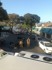 Rollover accident on West Gutierrez Street