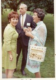 Ellen (on left) in conversation, 1969.