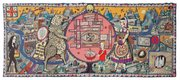 """<b>TAPESTRY MIND MAP:</b>  Grayson Perry's monumental """"Map of Truths and Beliefs"""" is just one of the craft-based artworks in the SBMA's new exhibition honoring the artisanal impulse in contemporary art."""