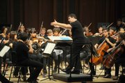 Academy Festival Orchestra performing Beethoven's Symphony No. 8 in F Major, led by guest conductor Tito Muñoz