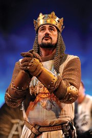 <b>THE FULL MONTY:</b>  Joseph Cannon stars as King Arthur in PCPA's hilarious take on Eric Idle's acclaimed musical.