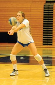 """<b>RAISING THE STAKES:</b> """"We want to get back in the NCAA tournament,"""" said senior Leah Sully (pictured), a returning All–Big West hitter. """"We want to go undefeated in the Thunderdome, and we want to win a preseason tournament."""""""