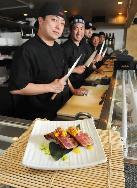 Arigato Sushi S Inventive Cuisine Includes This Mango Ahi Nigiri