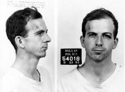 Lee Harvey Oswald's booking photo taken shortly after his arrest