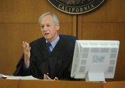Judge John Dobroth speaks during Penny Estes's sentencing