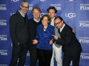 L to R writer Mark Monroe, Director Robert Nixon, world-renowned oceanographer Sylvia Earle, composer Will Bates, and director Fisher Stevens.