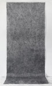 """<b>GROUNDED:</b> Michelle Stuart's """"#1 Woodstock NY, 1973"""" is a drawing made by frottage and is at the SBMA until April 20."""