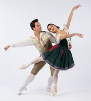 <b>High-Ho:</b>  Ryan Camou dances the roll of thePrince, and Lilit Hogtanian portrays Snow White in State Street Ballet's take on thefairy tale.