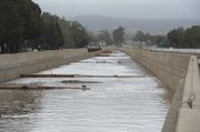 Water levels rise along San Jose Creek in Goleta