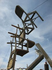 SIT IN THE SKY: An installation by Noah Purifoy located in Joshua Tree.