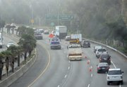CHP routing Southbound 101 traffic through the Castillo offramp/onramp to bypass the accident