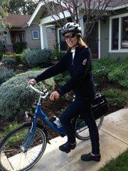 Nancy Mullholand commutes car-free.