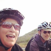 A selfie while riding to Hendry's