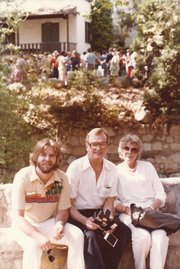 Chris Whitcraft (left) with his parents at the first ever Santa Barbara Wine Festival in 1980.
