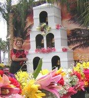 Decorating a Fiesta float