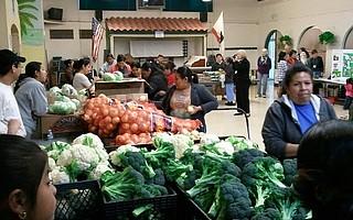 Foodbank at Goleta Valley Community Center.