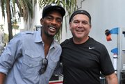 <b>MAN WITH PLAN:</b>  Scott Montoya (seen above with comedian Bill Bellamy) hopes that his LOL Comedy Festival will become an annual event in Santa Barbara.