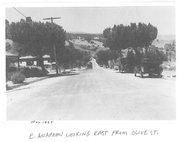 Historic photo of East Anapamu Street, taken in May 1923