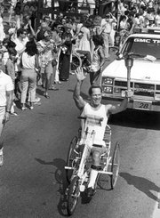 The most startling image of Bill was seen by thousands in July 1984, when he was chosen by the Santa Barbara Traditions Committee, out of all the athletes in this very athletic community, to carry the Olympic torch through downtown Santa Barbara on its way to Los Angeles.