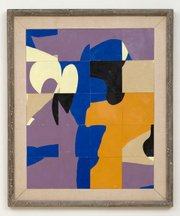 Agnes, #9c 1965 <br/ > oil in chip board panel<br/ > 29 1/4 x 24 1/4 inches (74.3 x 61.6 cm) framed<br/ > Copyright Frederick Hammersley Foundation.  Courtesy of L.A. Louver, Venice, CA