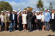 Organizers and contributors gather for the MOXI groundbreaking on Wednesday