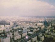 East Berlin as seen in 1988 from Fernsehturm, a TV tower in Berlin.