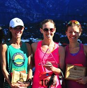 The women's winners included (L-R) Deanna Odell, Paige Burgin, and Jen Marquardt.