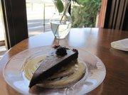 Piano Riviera Lounge's chocolate lavender tart.
