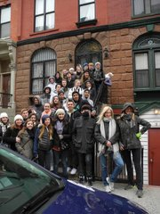 Laguna Blanca students visiting a school in Harlem.