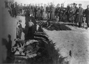 Mass grave at Wounded Knee after 1890 massacre