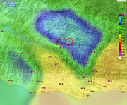 24 Hour Precipitation layer at VCWatershed.Net allows you to see where the rain is falling and in way quantities. Note that the rainfall wasn't at flash flood levels and was concentrated along the coast and SY Mountains. The sotorm did not have a major impact on backcountry watershed that would normally feed into Gibraltar Reservoir and Lake Cachuma.