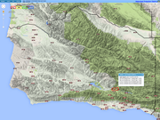 VCWatershed.Net map has real-time information from weather stations throughout California. The map shows 24 hour data for each of the stations but you can set it to a range of time periods.