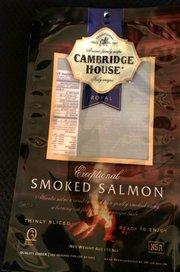 Cambridge House brand packaging that held Santa Barbara Smokehouse product