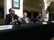 Frank Doyle (left) is the lead researcher from USCB, Fred Gluck (middle) is a retired CEO of McKinsey & Co, and Thomas Peyser (right) is the co-founder and chief scientist of Automated Glucose Control, LLC.